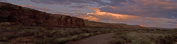 Virga panorama, Chaco canyon