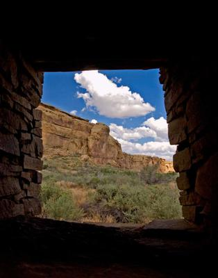 Pueblo Bonito window